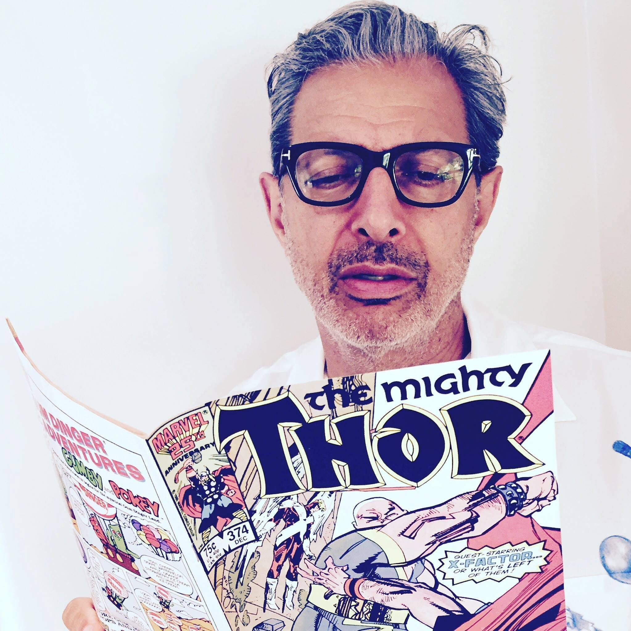Jeff Goldblum Studies Up For Thor: Ragnarok