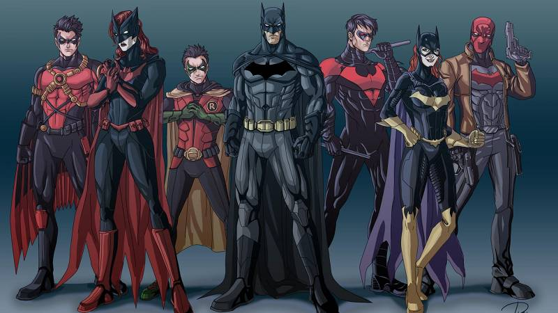 Batman and Family in DCEU