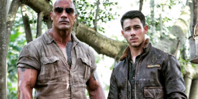 Dwayne Johnson Releases Jumanji First Look Of Nick Jonas Looking Tough In The Jungle