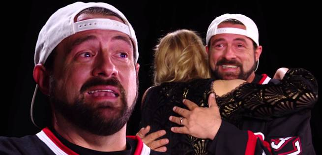 Kevin Smith And His Daughter Break Down In Tears During Yoga Hosers Interview