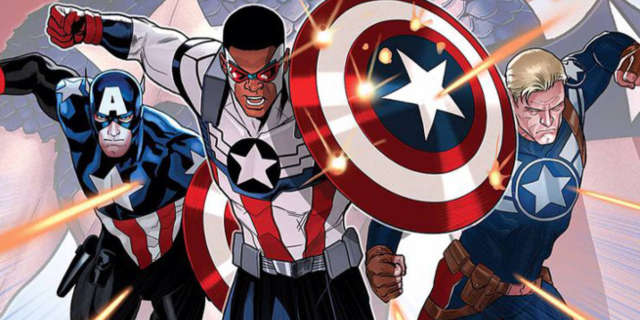 Captain America Bucky Sam Wilson Falcon Header