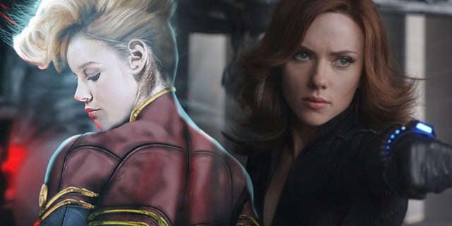 Captain Marvel Black Widow
