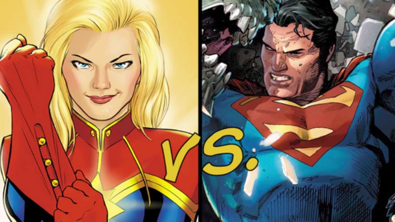 captain marvel vs superman