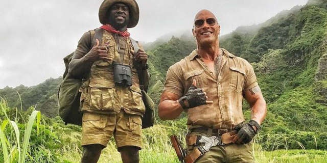 Jumanji Kevin Hart The Rock