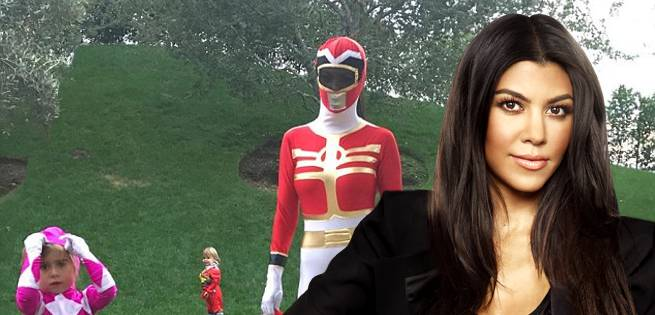 Kourtney Kardashian Shows Off Power Rangers Halloween Costume
