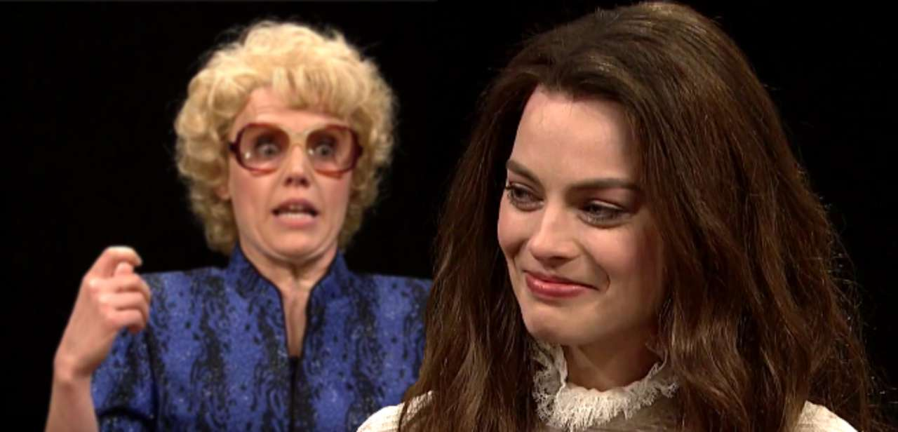 Margot Robbie Loses It During Actress Roundtable Snl Sketch