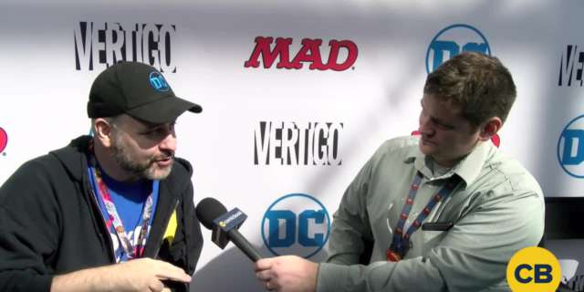Mark Andreyko at the New York Comic Con - Batman 66 and Wonder Woman 67 screen capture