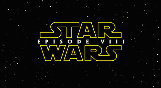 Star Wars Episode VIII logo Characters title