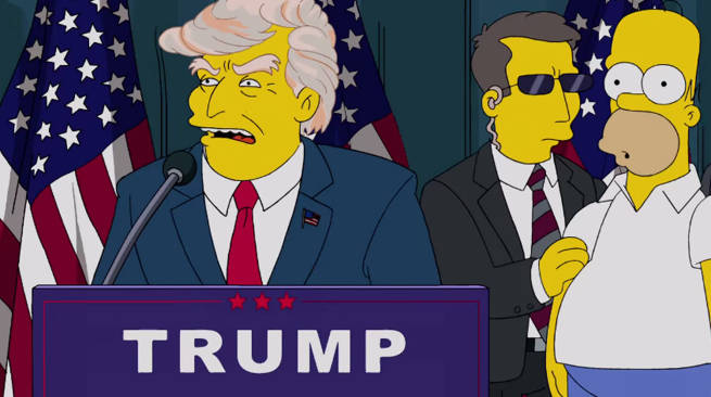Donald Trump Presidency Predicted By The Simpsons in 2000