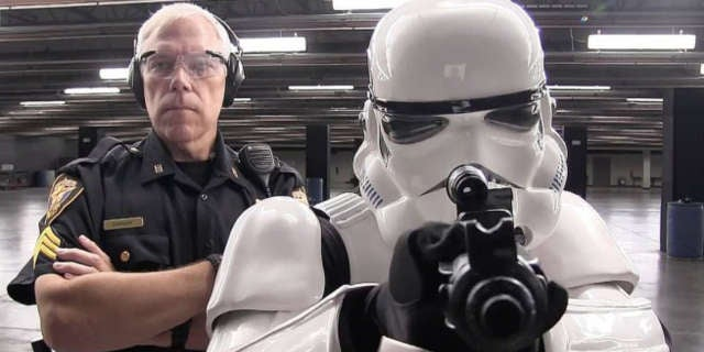 star wars stormtrooper used in police recruitment video. Black Bedroom Furniture Sets. Home Design Ideas