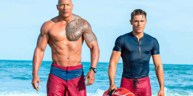 New Baywatch Photo Dwayne Johnson Zac Efron