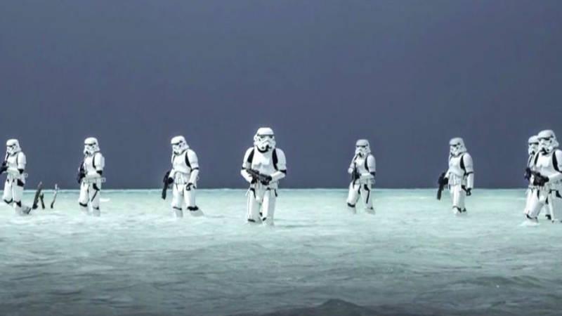 Rogue One Star Wars Story Deleted Scenes - Storm Troopers in Ocean