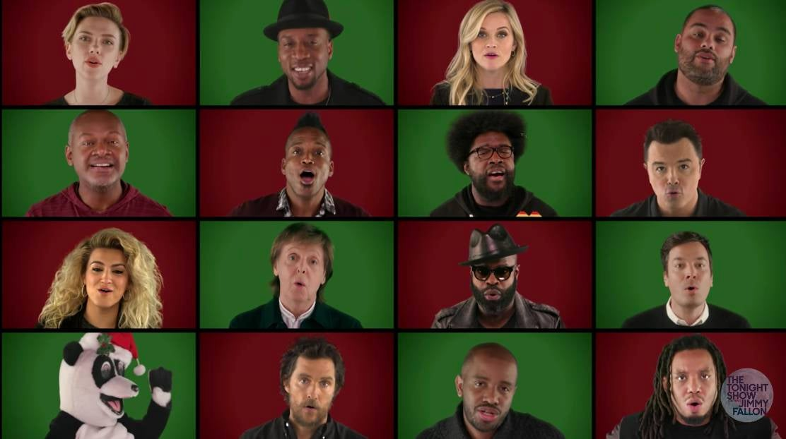 Paul McCartney, Scarlett Johansson, and the Roots Sing Wonderful Christmastime