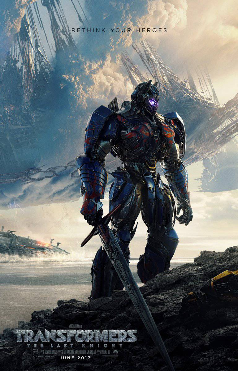 Transformers: The Last Knight movie poster image