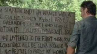 TWD Rick Sign 707