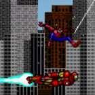 8bit spiderman ironman