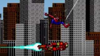 8bit spiderman ironman