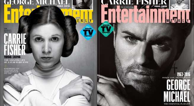 Carrie Fisher, George Michael Get EW Tribute Covers