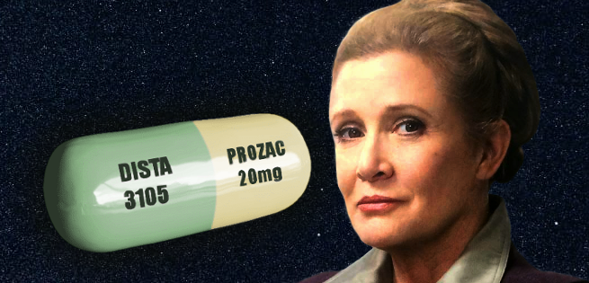 Internet Reacts to Carrie Fisher's Prozac Pill-Shaped Urn