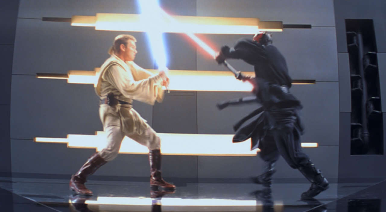 star wars history of darth maul vs obi wan kenobi
