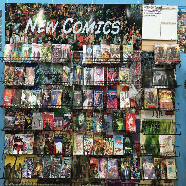 Fantasy Shop SoCo - Comics Shelves