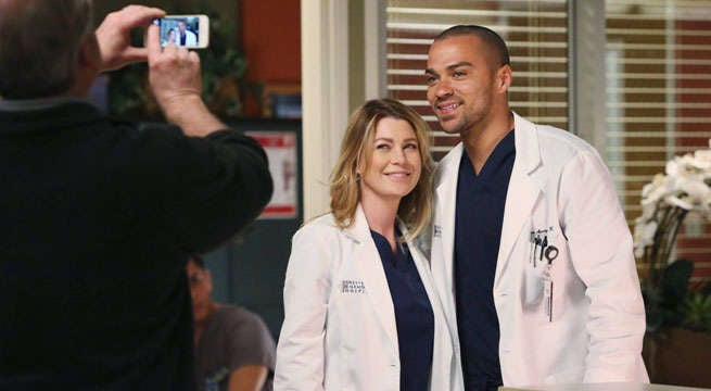 grey's anatomy jesse williams father ellen pompeo