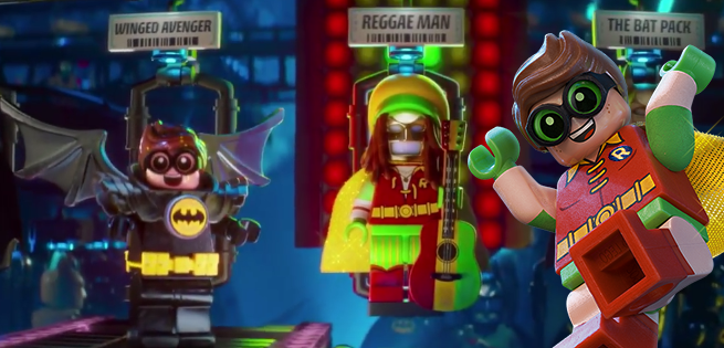 Robin Tries On Different Costumes in First LEGO Batman Clip