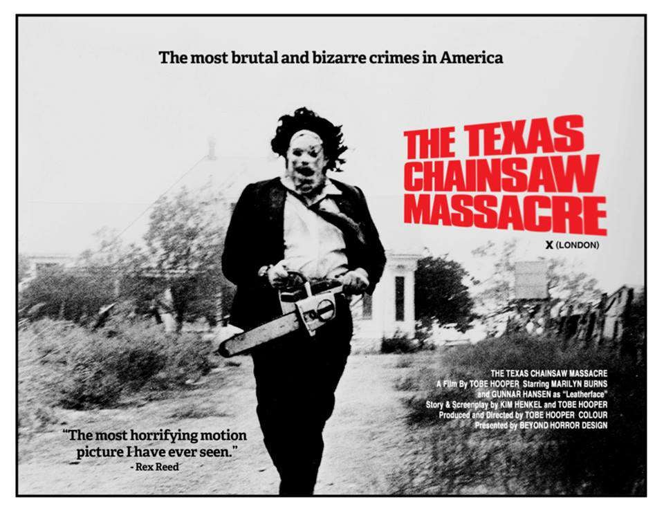 the texas chain saw massacre movie poster london