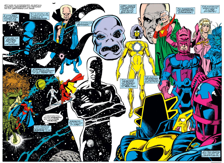 Avengers Inifinty War Marvel Cinematic Universe Eternity Living Tirbunal