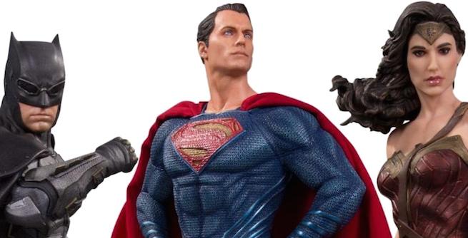 Justice League Movie Statues Give The Best Look Yet at Cyborg, Aquaman, And The Flash