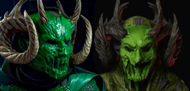 Alternate Green Meanie Costume Designs for Scream Queens