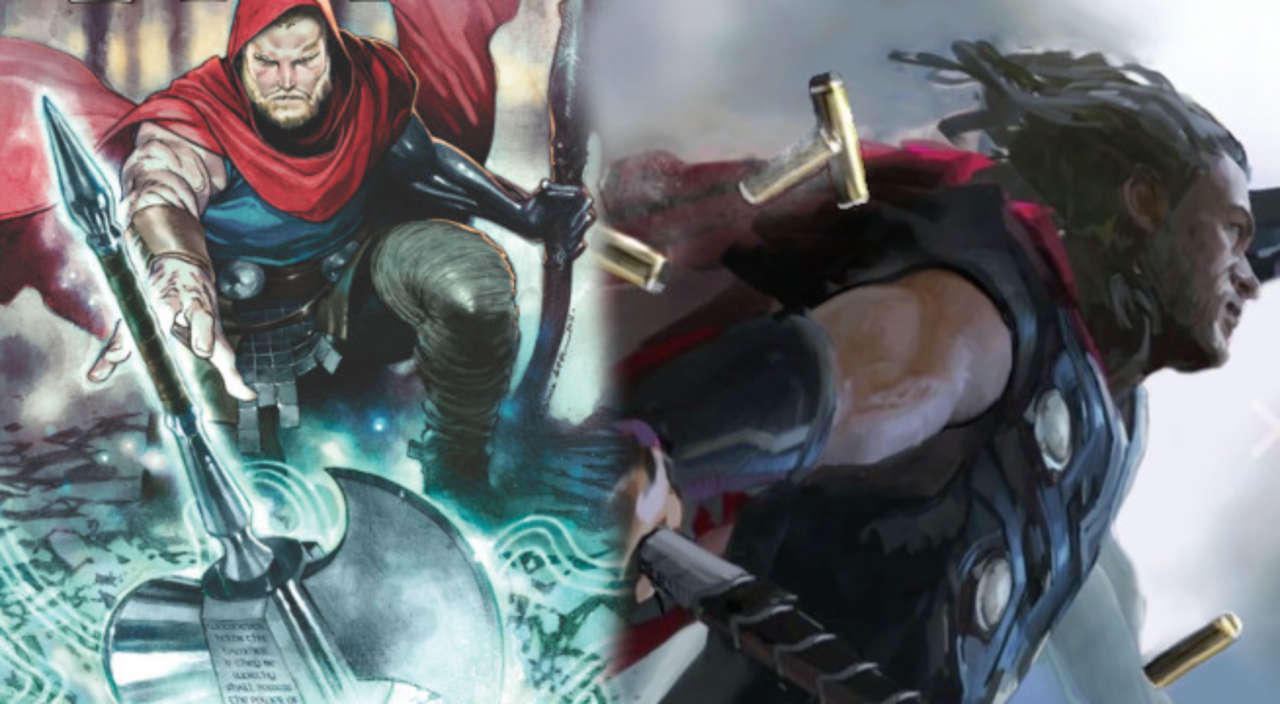 is thor wielding ultimate mjlonir in avengers infinity war