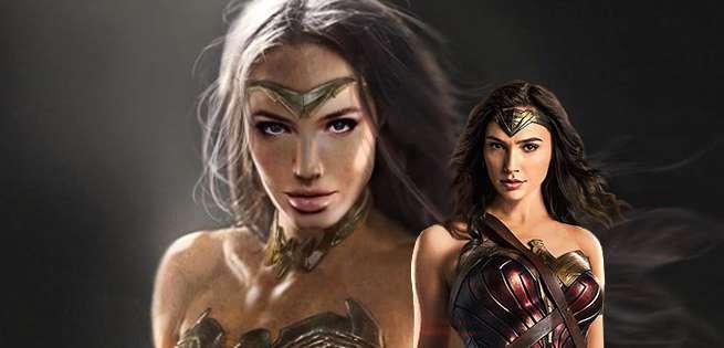 Wonder Woman and Doomsday Concept Art for Batman v Superman