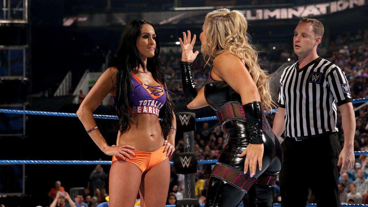 WWE-Nikki-Bella-Purple-And-Orange-Gear
