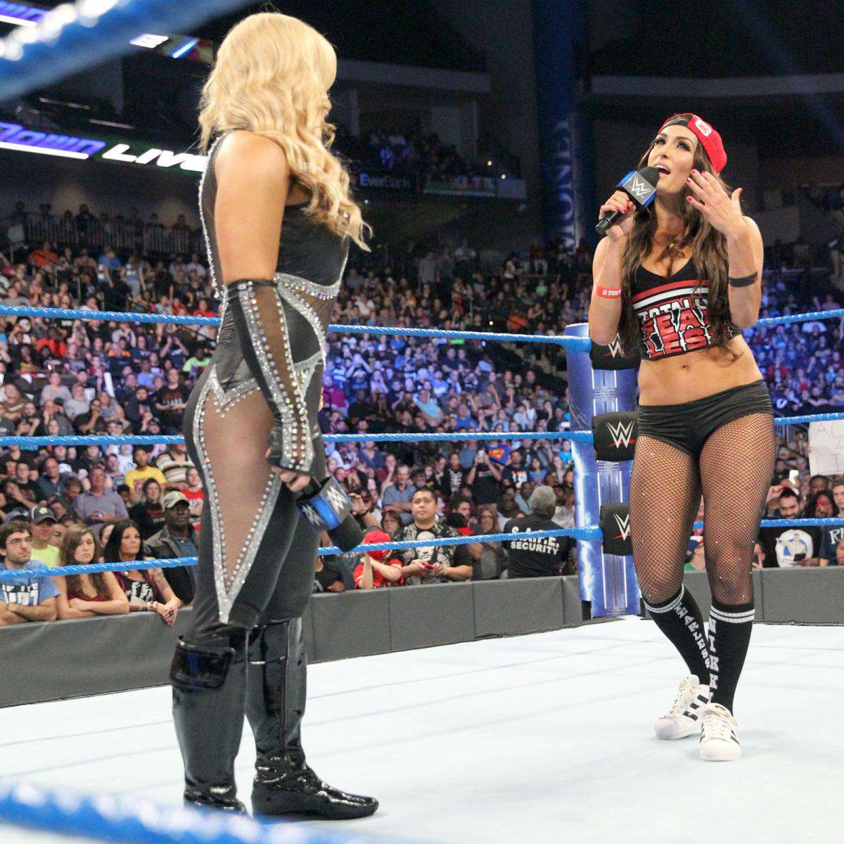 WWE-Nikki-Bella-Red-And-Black-Shirt