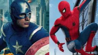 Captain America SpiderMan Homecoming