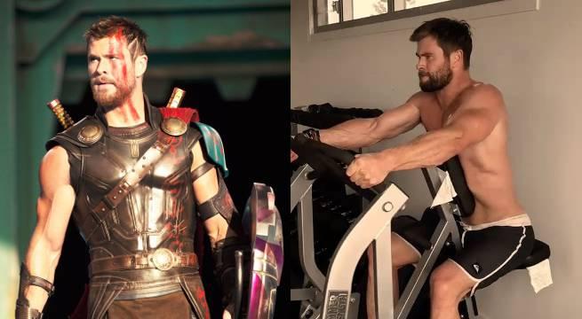 Thor: Ragnarok's Chris Hemsworth Works Out Like A God