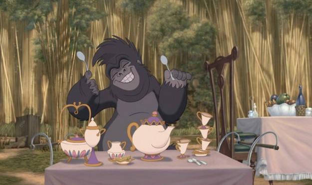 Disney Easter Eggs Tarzan Beauty and the Beast
