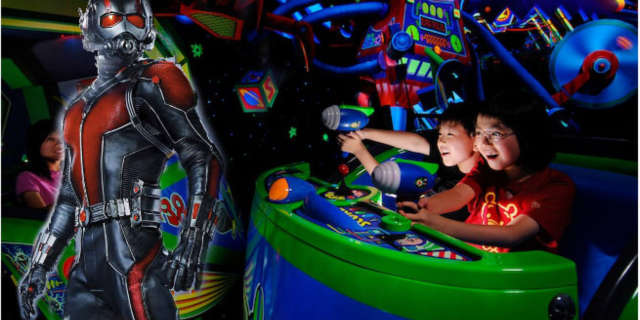 disneyland hong kong ant man ride buzz lightyear astro blasters
