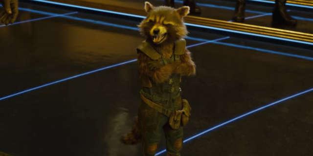 Guardians of the Galaxy vol. 2 Trailer 3 - Rocket Douchebags Winking Scene