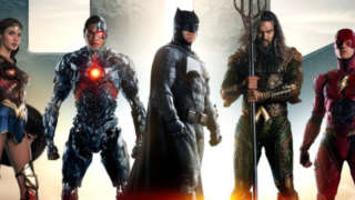 justice league poster header
