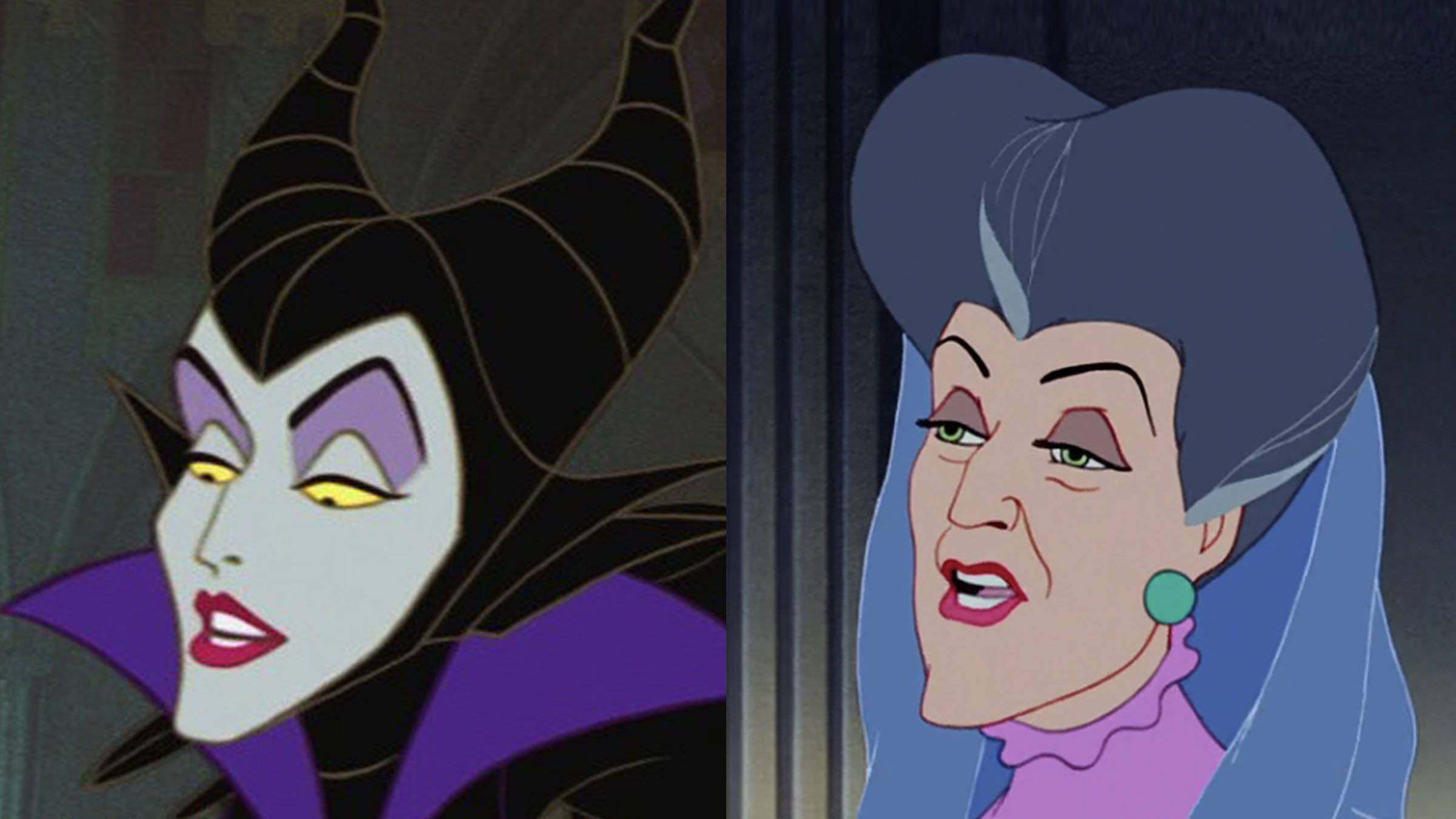 Lady Tremaine and Maleficent Disney Easter Eggs Dopplegangers