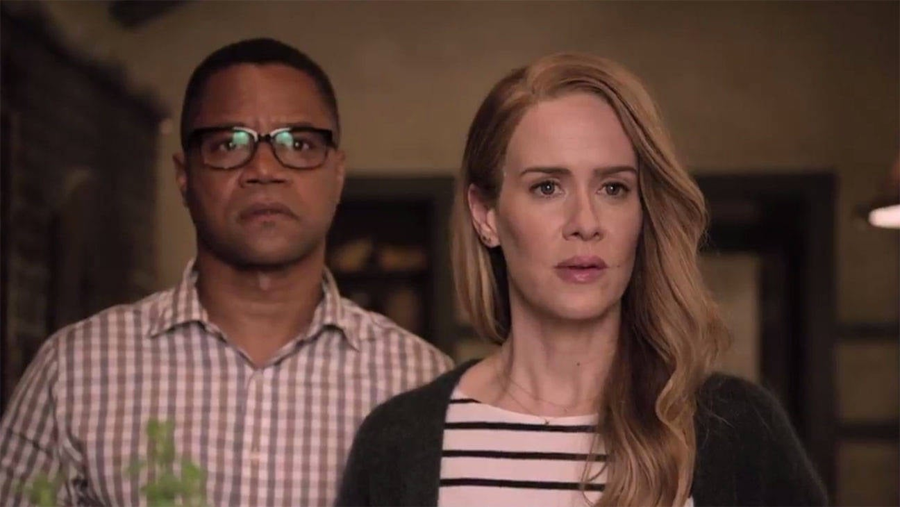 sarah paulson and cuba gooding jr. - screengrab - h - 2016