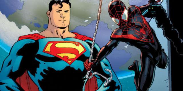 spider-man spider-gwen superman crossover