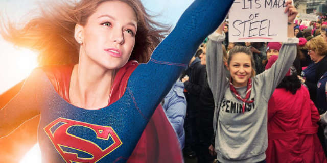 supergirl star melissa benoist importance political climate