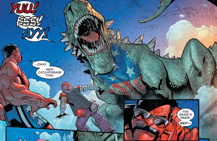 deadpool s marvel takeover continues with hulk pool vs red hulk brawl