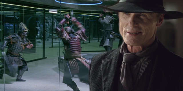westworld man in black ed harris samurai world