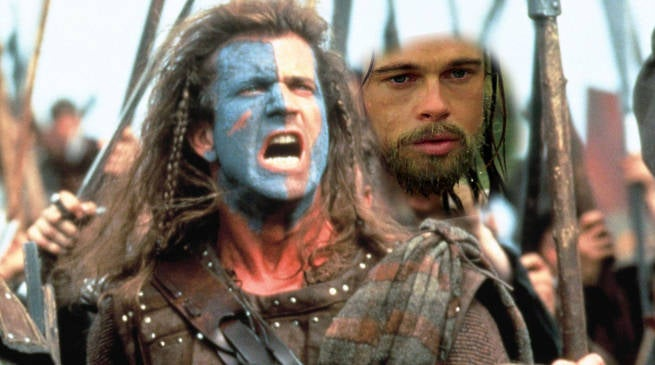 Brad Pitt Almost Played William Wallace in Mel Gibson's Braveheart