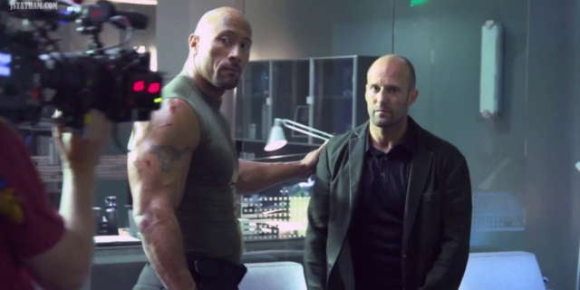 the rock hypes fans for fast furious spinoff with jason statham. Black Bedroom Furniture Sets. Home Design Ideas