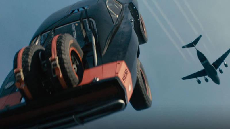 Fast Furious 7 Cars Parachute Plane
